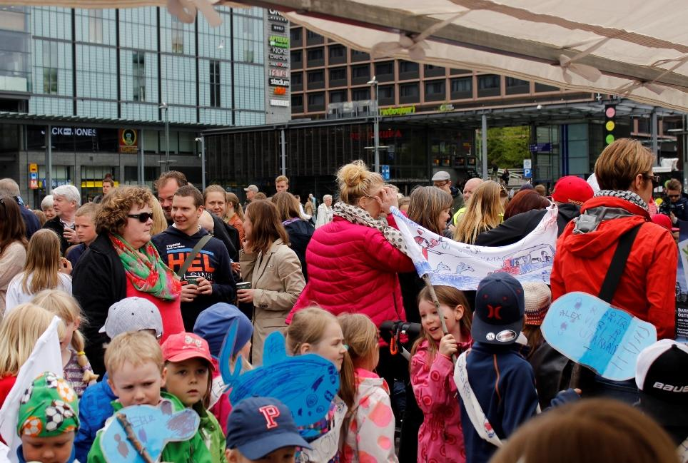 Lasten Itämeriprotesti. Kuva Erika Weckström.