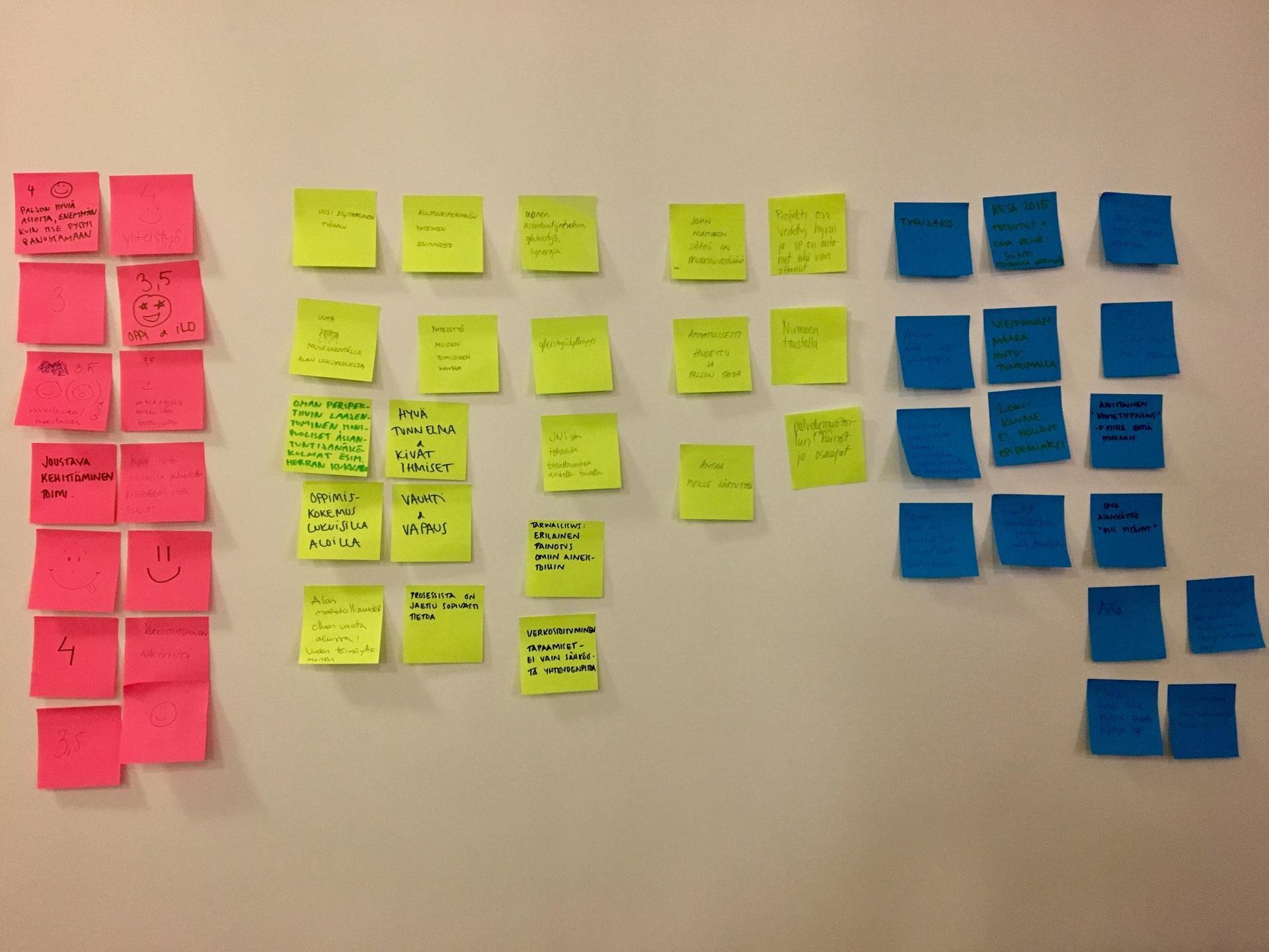 Museoryhmän loppukeskustelussa toistuivat mm. sanat asiantuntemus, verkostoituminen, yhteistyö ja viestintä.