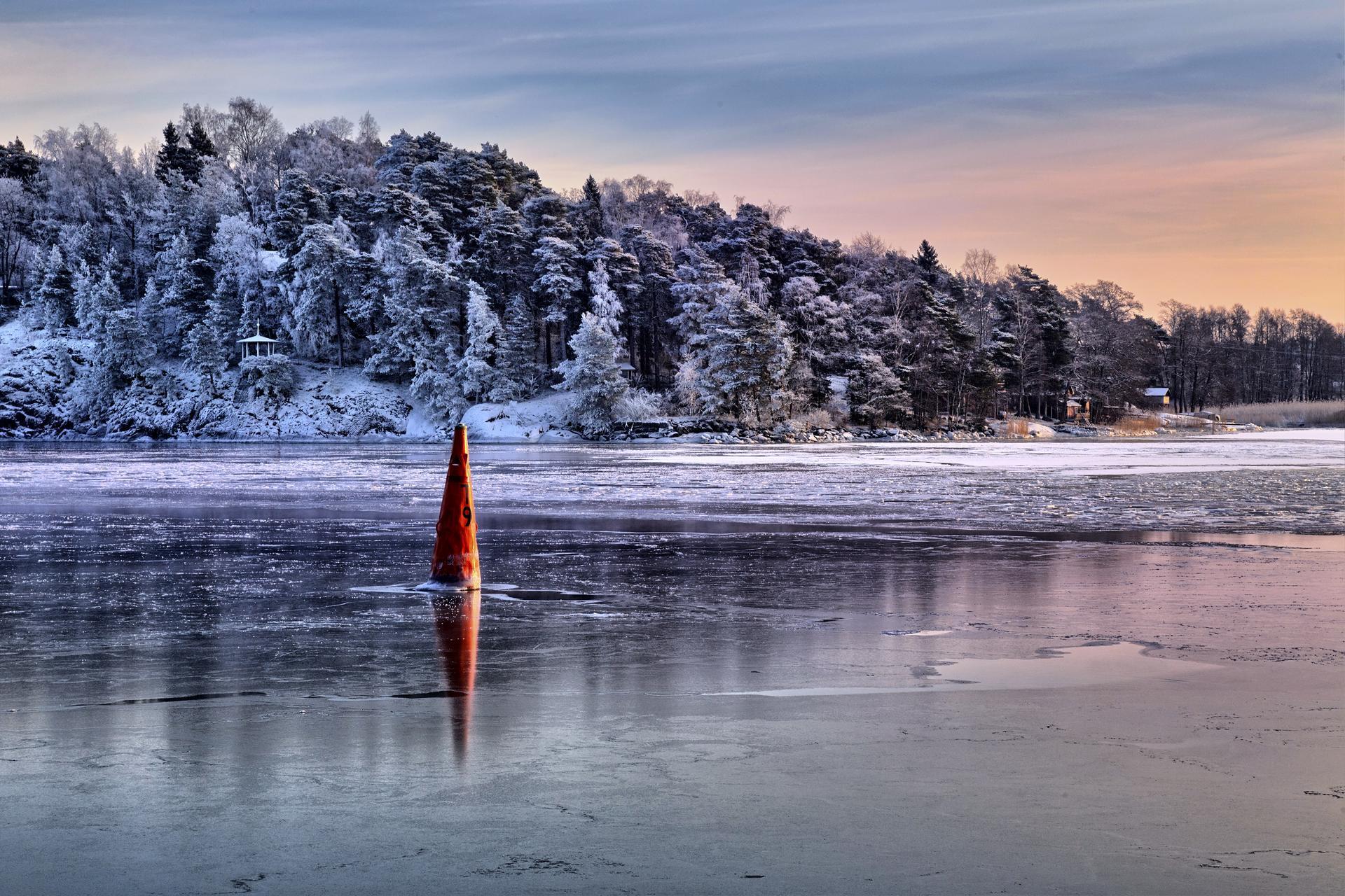 Tammikuinen väylä. (Kuva: Timo Oksanen, 2016)