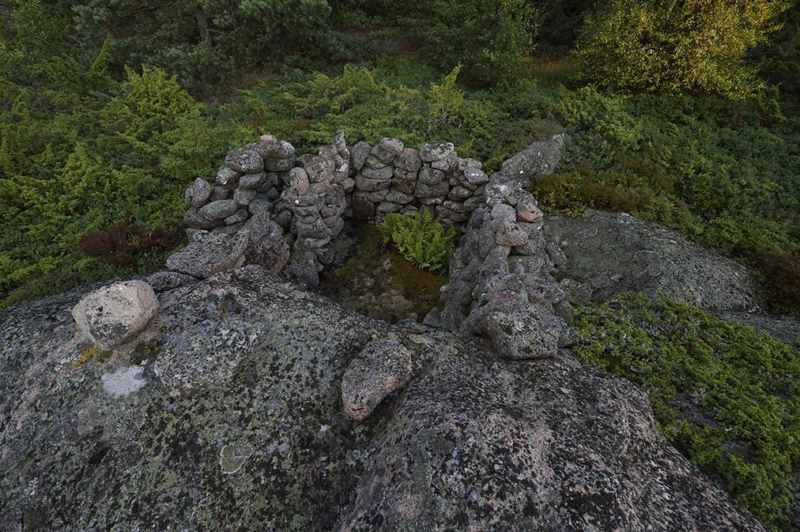 Kalastajien asumus, tomtning (Vårdö 2017).
